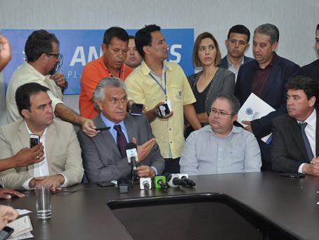 Governador Caiado visita Anápolis e fala sobre incentivos fiscais, UEG e aeroporto de cargas