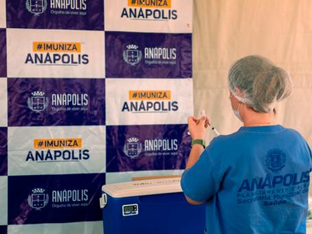 Prefeitura de Anápolis abre vacinação para pessoas acima de 55 anos