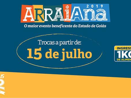 Saiba onde trocar alimentos por ingressos para os shows do Arraiana 2019