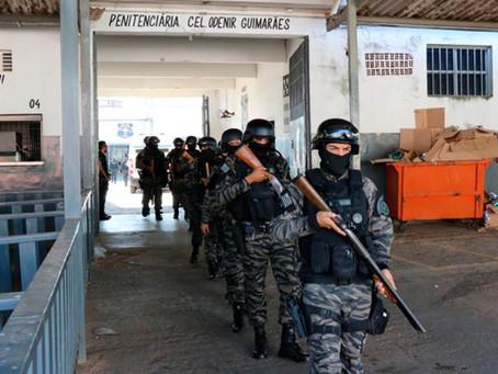 Operação transfere 1.133 detentos da Penitenciária Odenir Guimarães