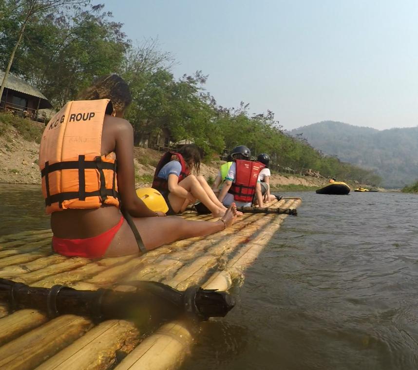 Rafting en bambou