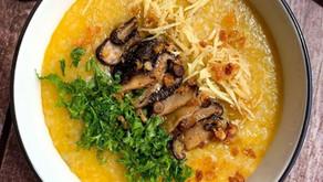 南瓜冬菇魚乾粥