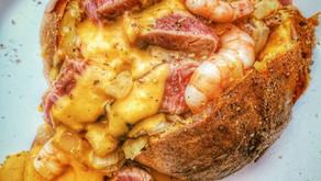 牛小排大蝦芝士焗薯
