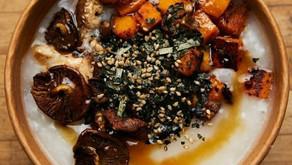 南瓜紫菜冬菇粥