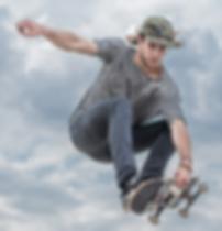Young man skateboard trick