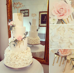 Yesterday's stunning wedding cake. I abs