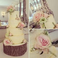 Lovely 4 tier buttercream cake for yeste