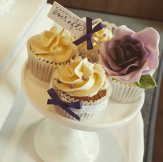 matching cupcakes to a recent wedding ca