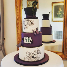 Yesterday's gothic themed wedding cake.j