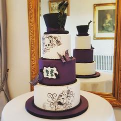 Yesterday's gothic themed wedding cake.j
