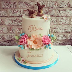 Mummy and daughter Christening Cake from