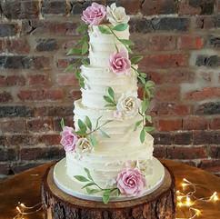 Today's buttercream wedding cake with ha