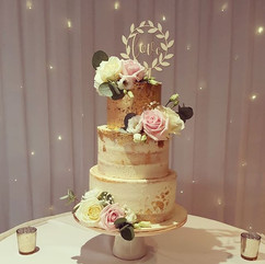Yesterdays wedding cake with 24ct gold l