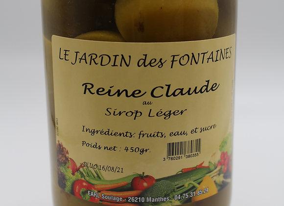 Fruits au sirop Reine claude