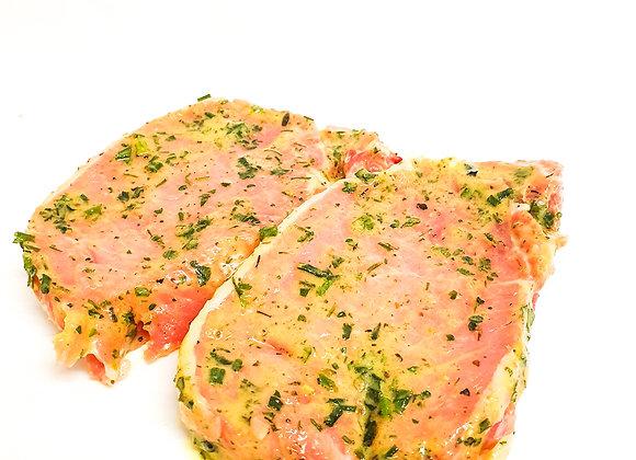 Steak de porc mariné