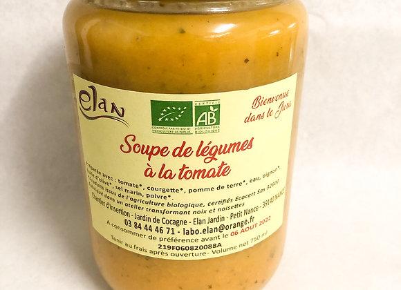 Soupe de légumes à la tomate bio