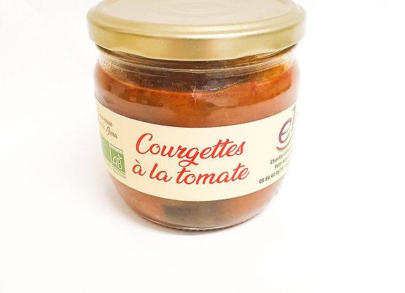 Courgettes à la tomate bio