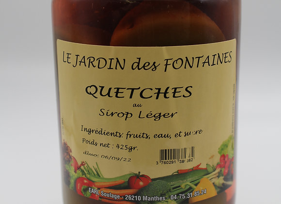 Fruits au sirop Quetsches