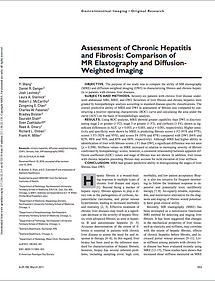 Assessment of chronic hepatitis and fibrosis: comparison of MR elastography and diffusion-weighted imaging