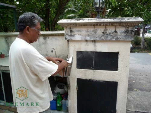 Mr. Aris using smoker for the first time.