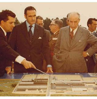 Visita ministro industria palmones 1972.