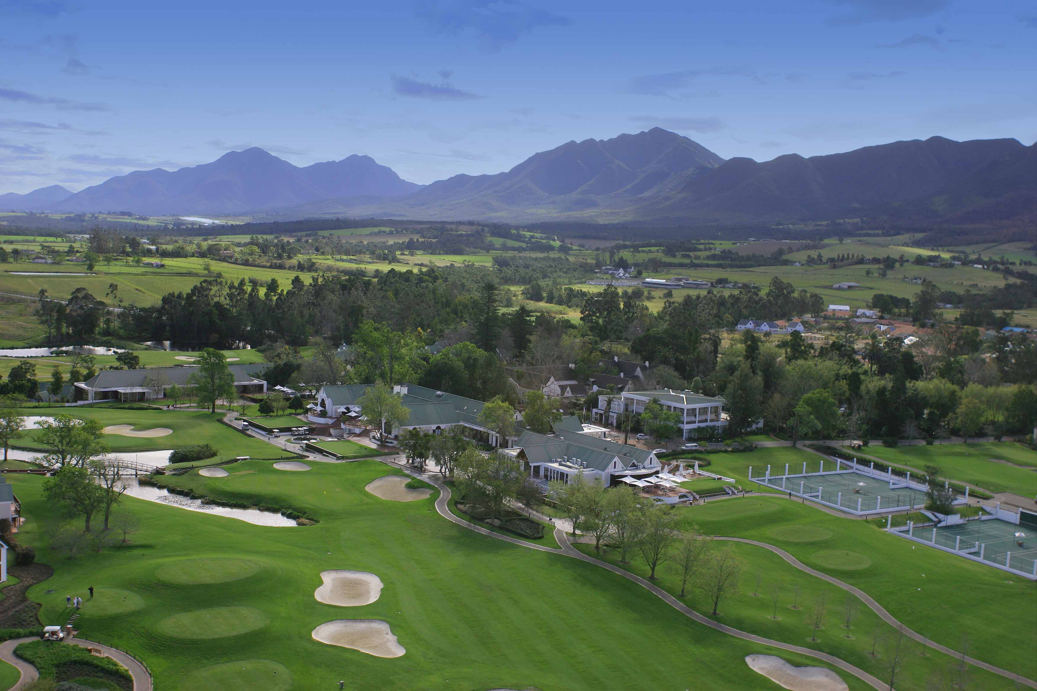 Fancourt Hotel from the air