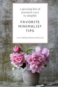 best minimalist tips