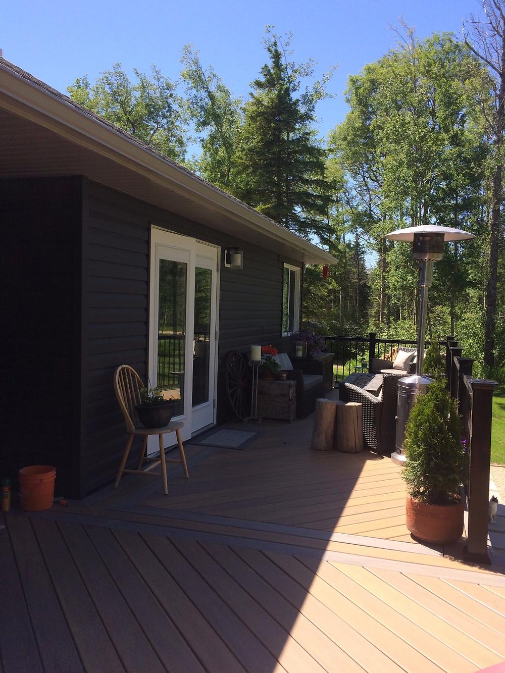 Large backyard deck