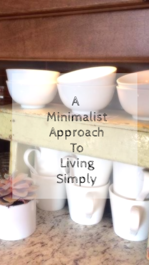 A minimalist approach to living simply