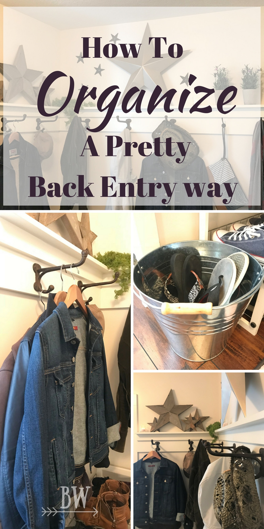 how to organize a pretty back entry way