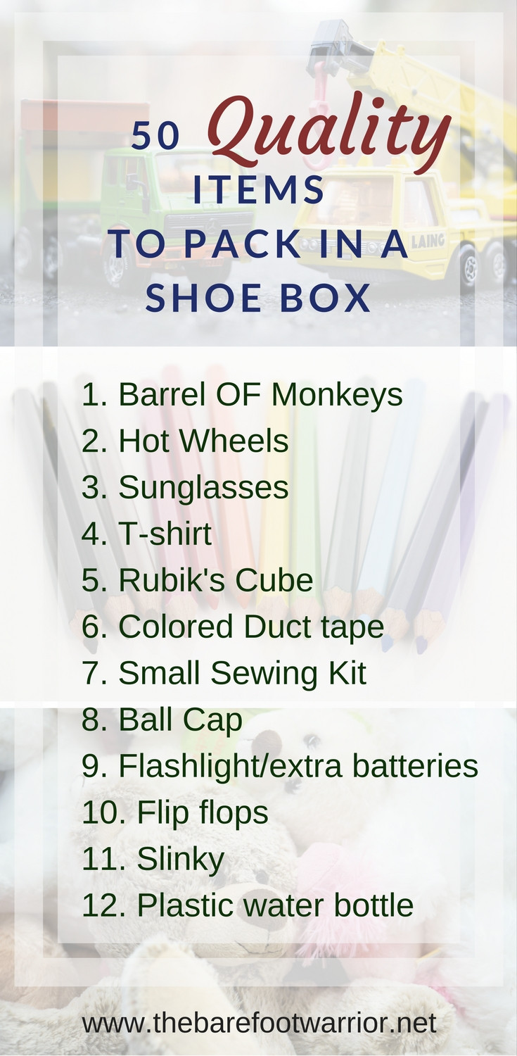 50 quality items to pack in a shoe box