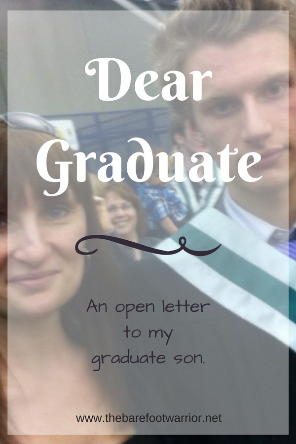 An open letter to my graduate son