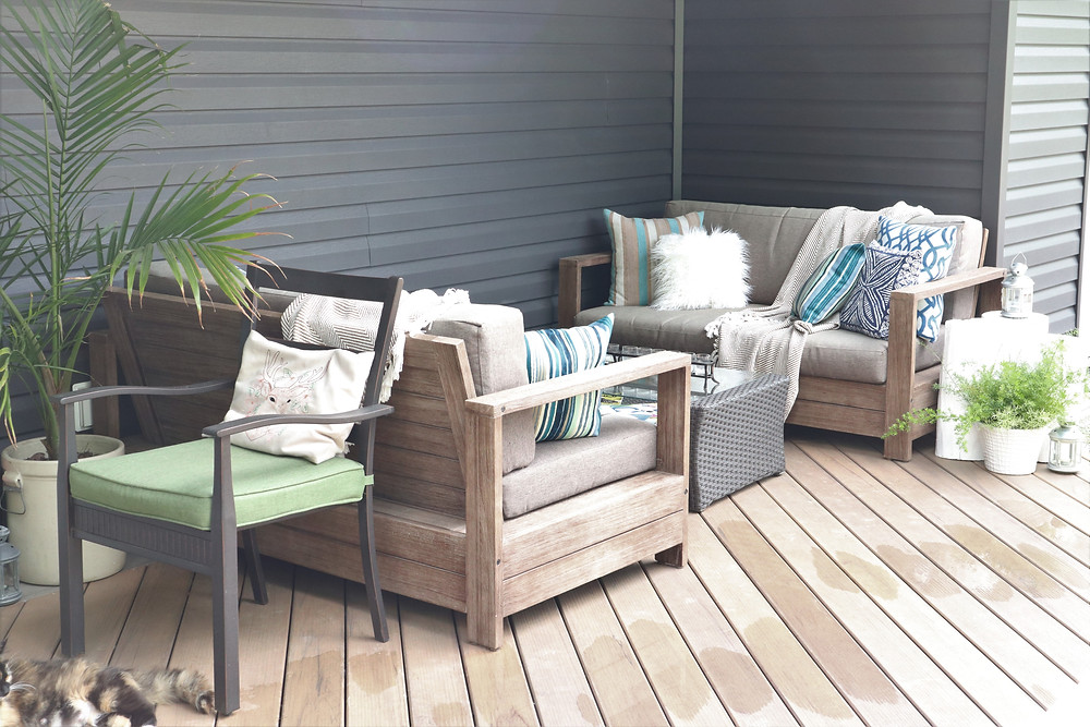 outdoor summer hygge living space