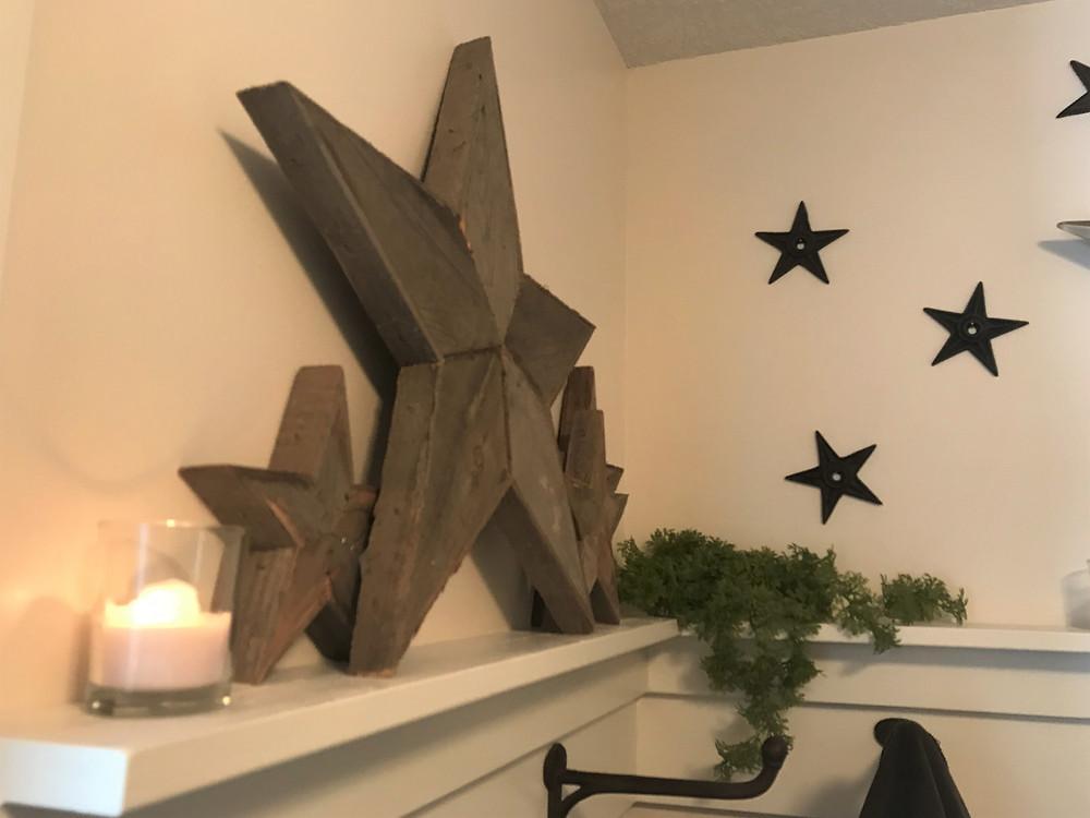 Patchwork pallet stars