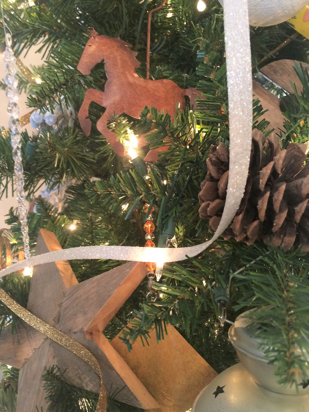 wind chime on a Christmas tree
