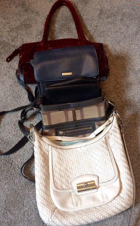 purses to de-clutter