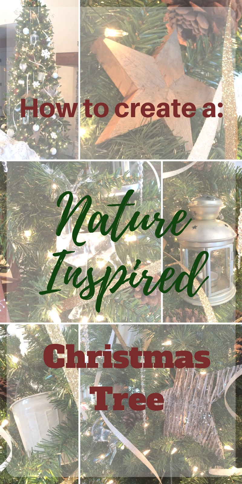 How to create a simple, nature inspired Christmas Tree