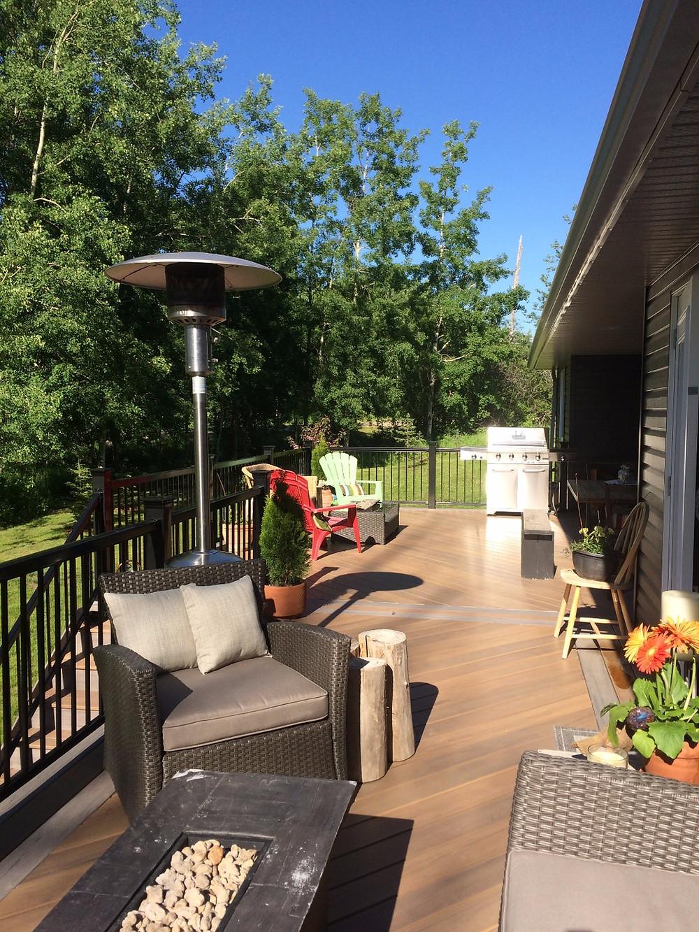 Summer patio furniture