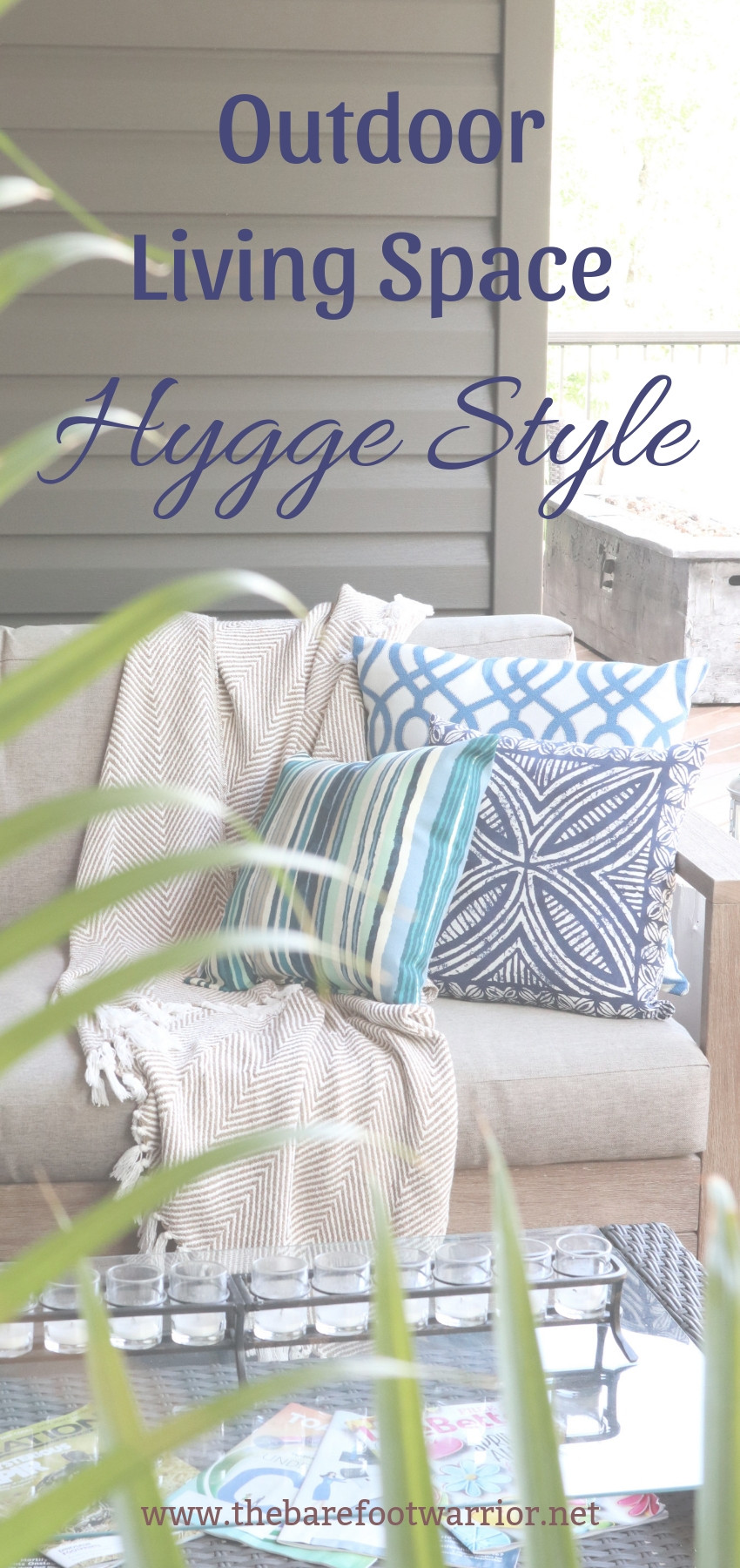 summer outdoor living space, hygge style