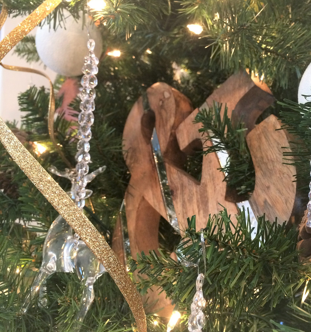 ampersand on a Christmas tree