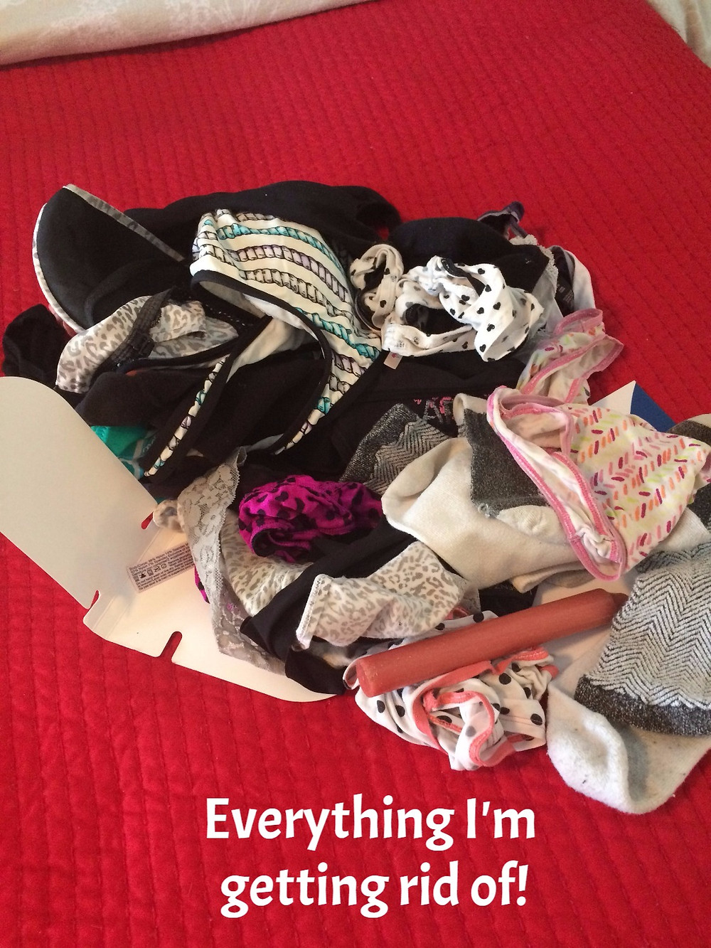 throw away old used up underwear
