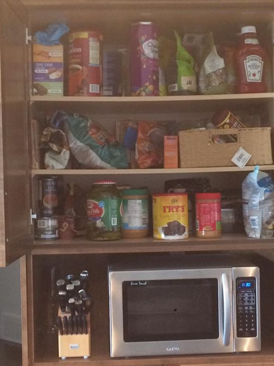 unorganized pantry