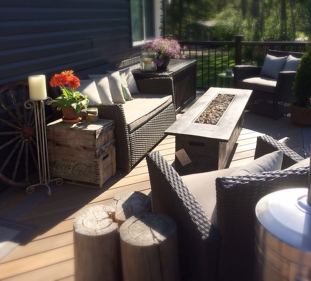 Patio living, spring hygge