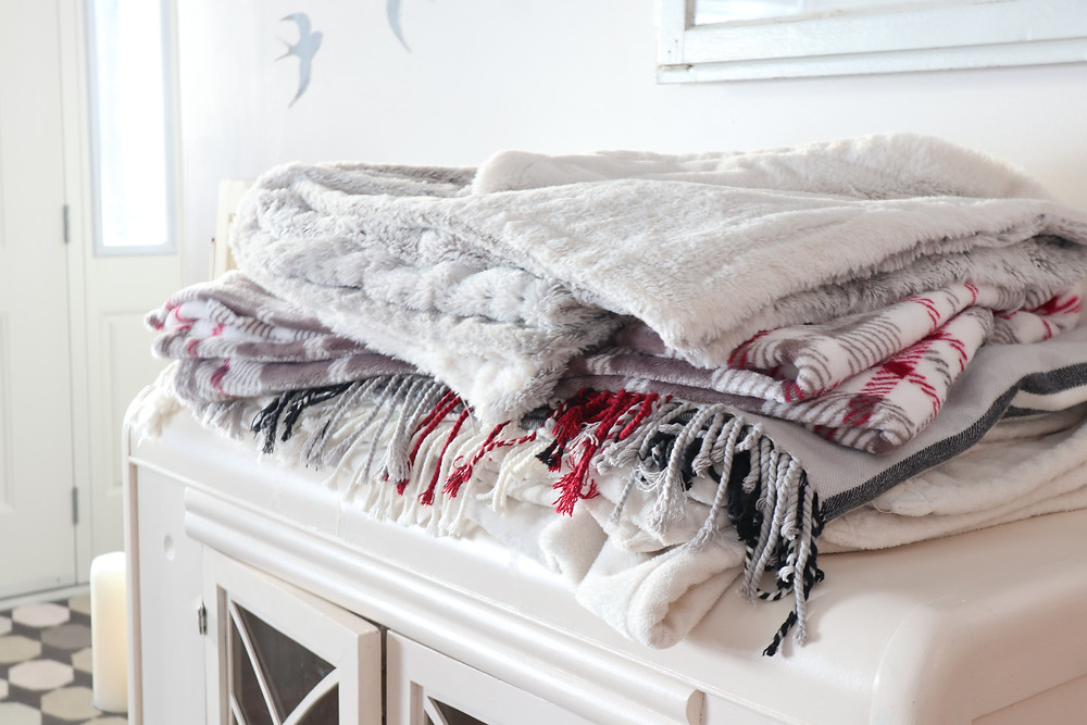 cozy, faux fur throws