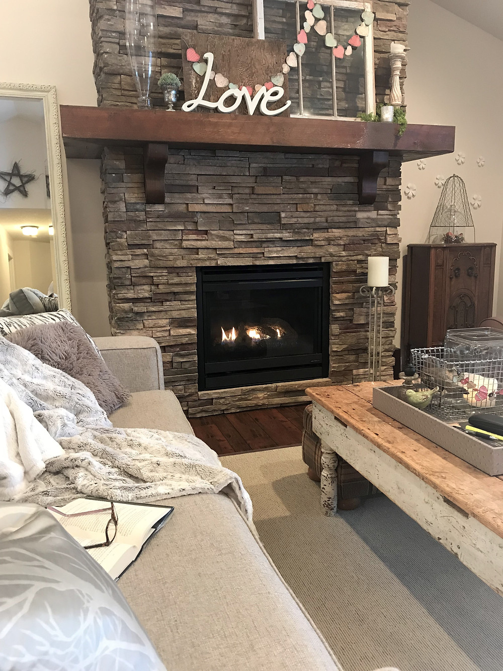 Hygge fireplace
