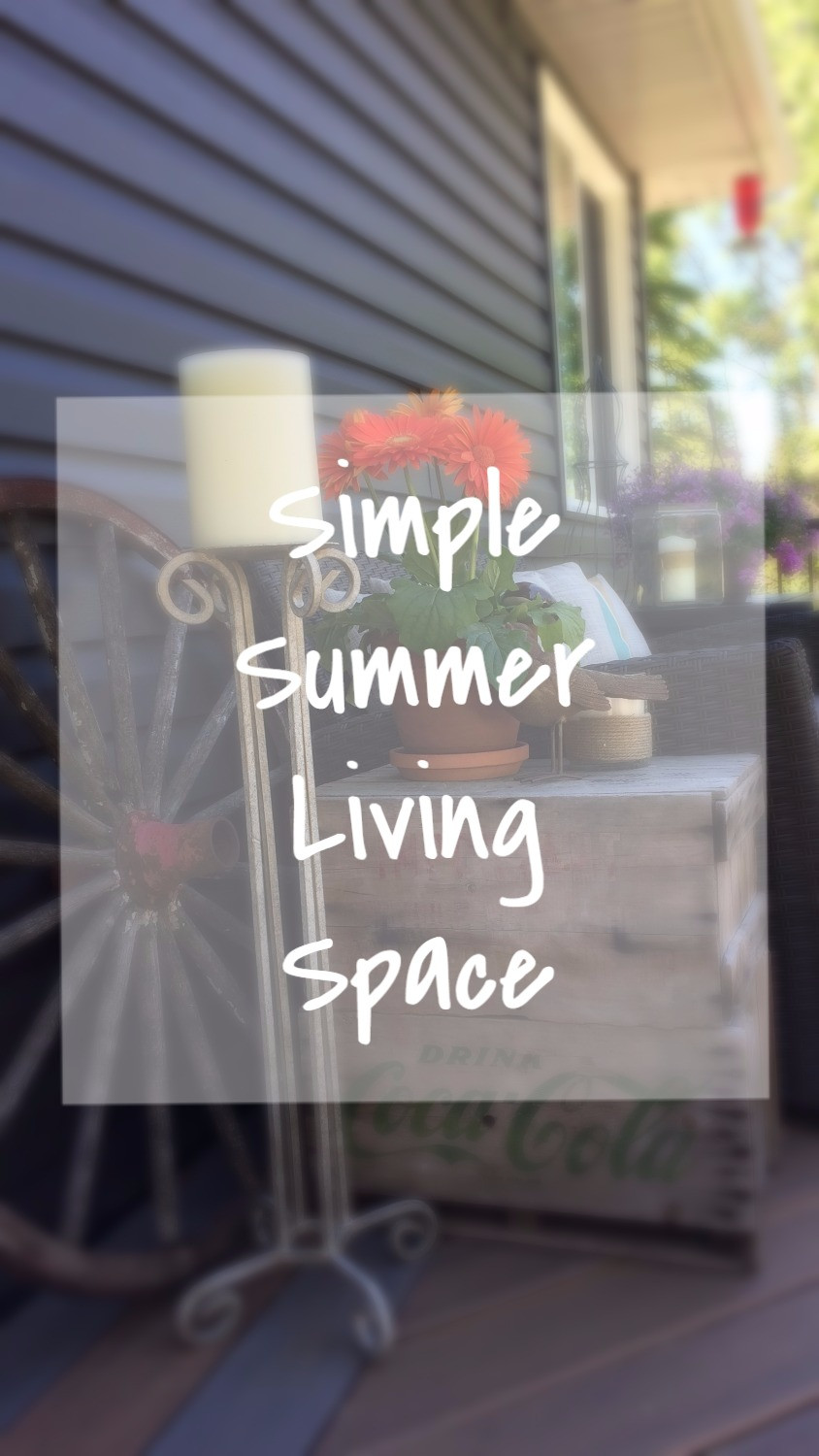 Simple Summer Living Space