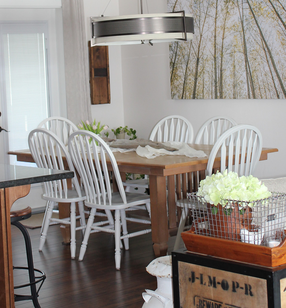 DIY painted dining room chairs