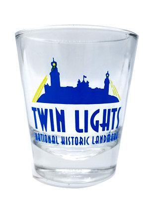 Twin Lights Shot Glass