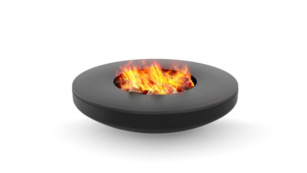 3d визуализация костровой чаши с огнём
