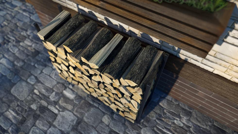 3d визуализация поленницы для дров